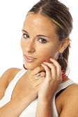 Real young beautiful woman — Stock Photo