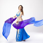 Belly dancer woman — Stock Photo