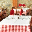 Stock Photo: Rustic restaurant tables
