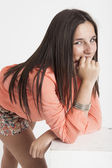 Real young cute woman — Stock Photo