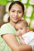 Indian woman mother and child boy — Stock Photo