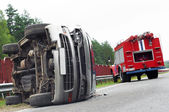 Road car accident crash — Stockfoto