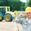 Royalty-Free Stock Photo: Surveyor works with theodolite