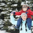 Mother with child boy son at winter — Stock Photo #12763210