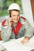 Happy construction site manager engeneer — Stock Photo