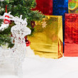 Stock Photo: Gifts background at Christmas or new year