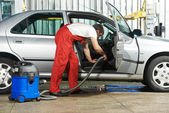 Cleaning service of automobile vacuum clean — Stock Photo