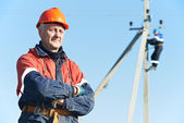 Power electrician lineman portrait — Stock Photo