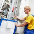 Royalty-Free Stock Photo: Young plumber man worker