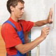 Tiler at home renovation work — Stock Photo