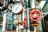 Heating system Boiler room equipments — Stock Photo