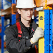 Warehouse installer worker examining quality — Stock Photo