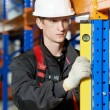 Warehouse installer worker examining quality — Stock Photo #18563487