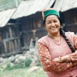 Authentic indian country villager woman — Stock Photo