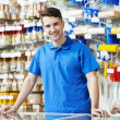 Seller at home improvement store — Stock Photo