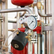 Water system Boiler room equipments — Stock Photo