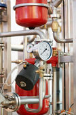 Water system Boiler room equipments — Стоковое фото