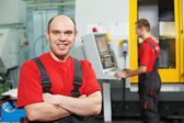 Portrait of experienced industrial worker — Stock Photo