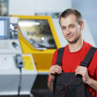 Portrait of experienced industrial worker - Stock Photo