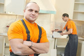 Portrait of kitchen installation worker — Stockfoto