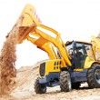 Excavator Loader with backhoe works — Stock Photo #20509351