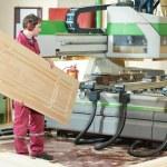 Постер, плакат: Carpentry wood door production