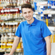 Royalty-Free Stock Photo: Seller at home improvement store