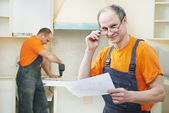 Portrait of kitchen installation worker — Stock Photo