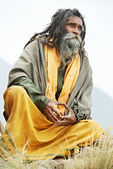 Indian monk sadhu — Stock Photo