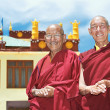 Two Indian tibetan monk lama — Stock Photo #20757867