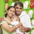Indian family woman man and child boy - Stock Photo
