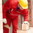 Construction mason worker bricklayer — Stock Photo #21440841