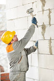 Construction mason worker bricklayer — Stock Photo
