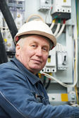 Portrait of adult Electrician — Stock Photo