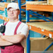 Royalty-Free Stock Photo: Caucasian young manual worker in warehouse