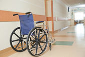 Wheelchair for disabled paients in clinic — Stock Photo