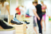 Shoe in footwear store — Stock Photo