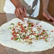 Pizza preparartion — Stock Photo