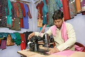 Indian man tailor portrait — Stock Photo