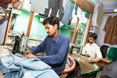 Two indian man tailors — Stock Photo