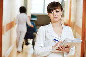 Young medic nurse in hospital — Stock Photo