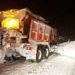 Winter road snow removal — Stock Photo