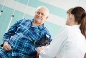Patient at Blood pressure medic test — Stock Photo