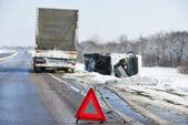 Kış araba kazası — Stok fotoğraf