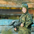Girl paintball player — Stock Photo #22826540