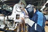 Carro de metal corpo técnico da soldadura — Foto Stock