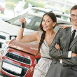 Car selling or auto buying - Stock Photo