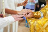 Orthodox wedding ceremony — Stock Photo