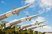 Antiaircraft missles weapon aimed to the sky — Stock Photo