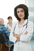 Young medic doctor in hospital — Stock Photo